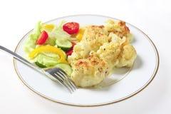салат вилки сыра cauliflower Стоковое Изображение