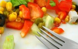 салат грека вилки Стоковая Фотография RF