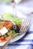 салат грека крупного плана Стоковые Изображения RF
