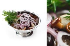 Салат гриба и лука Стоковые Фотографии RF