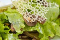 Салат, грибы и решетка сыра Стоковые Изображения RF