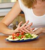 салат девушки Стоковое Изображение RF
