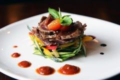 салат жаркого говядины пряный Стоковые Изображения