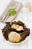 салат зажженный рыбами Стоковое Изображение RF
