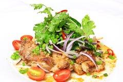 салат зажженный цыпленком Стоковые Фотографии RF
