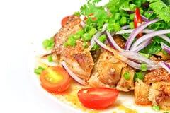 салат зажженный цыпленком Стоковое Изображение RF