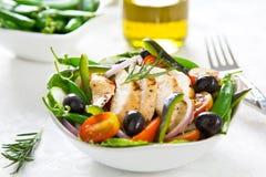 салат зажженный цыпленком Стоковые Изображения RF