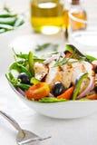 салат зажженный цыпленком Стоковое Фото