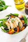 салат зажженный цыпленком Стоковые Фото