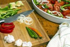 салат ингридиентов среднеземноморской Стоковое Изображение