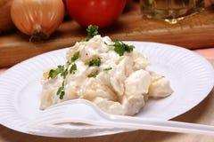 салат картошки бумажной плиты Стоковое фото RF