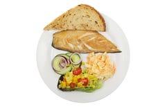 Салат копченой скумбрии стоковые фото