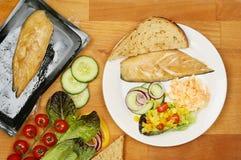 Салат копченой скумбрии стоковая фотография rf