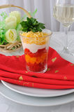 Салат красных и желтых томатов Стоковые Фотографии RF