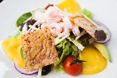 Салат креветки с соусом Стоковое Изображение