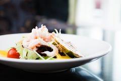 Салат креветки с соусом Стоковая Фотография RF
