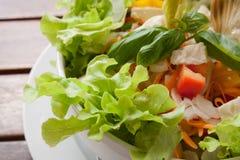 салат крупного плана цветастый вкусный Стоковая Фотография RF