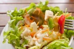 салат крупного плана цветастый вкусный Стоковое Изображение