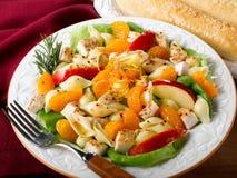 салат макаронных изделия плодоовощ цыпленка Стоковое фото RF