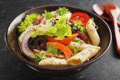 Салат макаронных изделия Стоковое фото RF