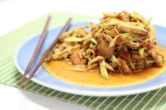 салат мангоа пряный стоковое изображение