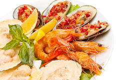 Салат морепродуктов Стоковое Изображение RF