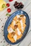 Салат моркови с югуртом и чесноком стоковое фото