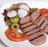 Салат мяса завтрака с томатами Стоковое Изображение
