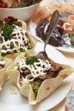 салат мяса мозоли торта плоский обернул Стоковое Изображение