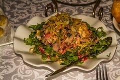 Салат мяса, часть торжества дальше, Средняя Азия Стоковое Изображение RF
