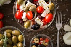 Салат овощей с прованской здоровой свежей вегетарианской едой стоковое изображение rf