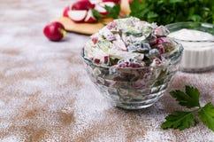 Салат отрезанных сырцовых овощей Стоковые Фото