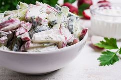 Салат отрезанных сырцовых овощей Стоковые Изображения