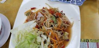 Салат папапайи Laotion стоковое изображение rf