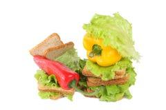 салат паприки хлеба Стоковая Фотография