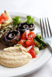 салат персиянки hummus Стоковое фото RF