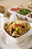 салат перца гриба мяса мозоли различный Стоковая Фотография