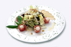 салат плиты груши ветчины Стоковое Фото