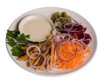 салат плиты Стоковые Фотографии RF