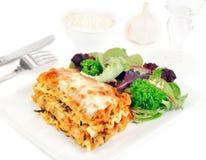 салат плиты lasagna Стоковая Фотография