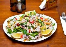 Салат продуктов моря стоковые фотографии rf