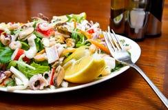 Салат продуктов моря стоковое изображение rf