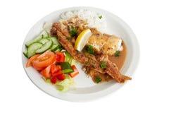 салат риса камбалы Стоковое Изображение