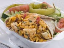 салат риса цыпленка burrito стоковые изображения rf