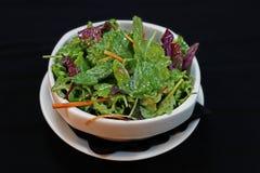 Салат салата зеленого цвета смешивания в шаре стоковые изображения rf