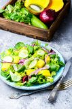 Салат салата с кусками манго Стоковые Фото