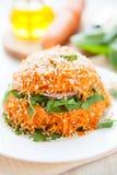 Салат свежих морковей и шпината Стоковое Фото