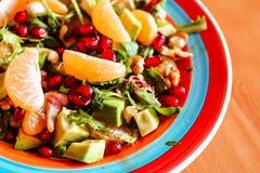 Салат свежих фруктов и ягод Здоровая предпосылка еды витамина стоковая фотография rf