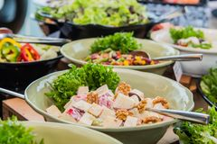 Салат смешивания для обедающего Стоковые Изображения RF