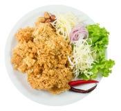 Салат сома взгляд сверху кудрявый с овощем Стоковая Фотография